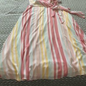 Stripe Wrap Maxi in Medium